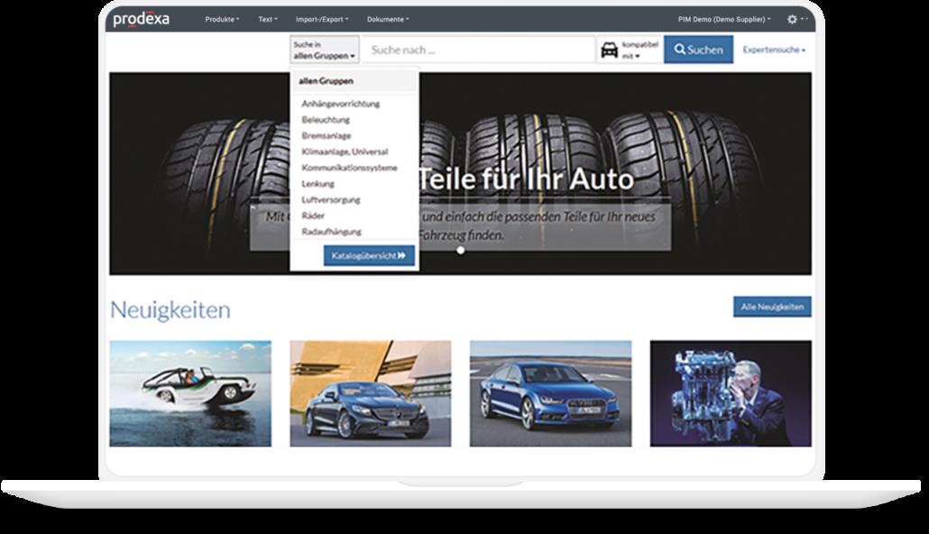 prodexa Cloud für die Automobil- und Fahrzeugbranche